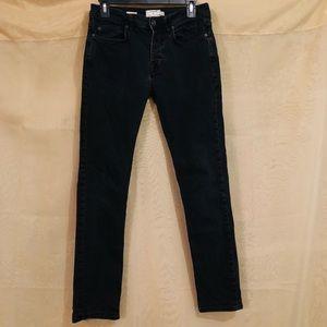 Men's Topman Black Washed Skinny Jeans